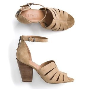 1.State Nallay Suede Heel in Tan Size 8.5